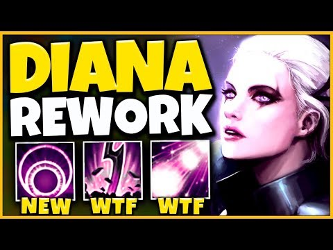*NEW REWORK* DIANA NOW HAS A GIANT BOMB (NEW COMBO) - League of Legends