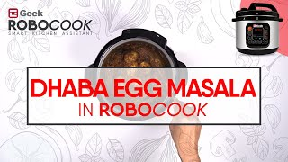 Dhaba Style Egg Masala - Simmer Function In Geek Robocook