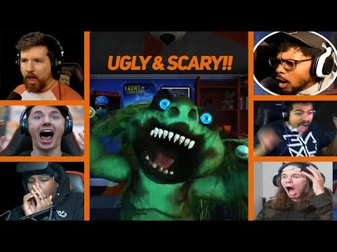 Gamers React To First Encounter And Jumpscare From an Urkling!! - MIDNIGHT EVIL