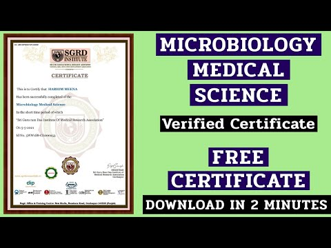 Free Online Certification Courses | Microbiology Medical Science ...