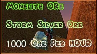 INSANE Monelite Ore and Storm Silver Ore Farm - 1000 Ores Per HOUR -