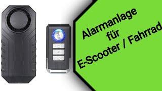 Alarmanlage für E-Scooter und Fahrräder - Mengshen 113dB Wireless