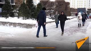 Переломы руки и ног: Астана превратилась в огромный каток