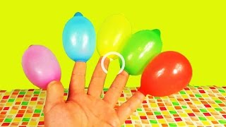 Colors Finger Balloons Compilation  3 Minutes Learn colours Balloon  TOP Finger Family Kids Rainbow