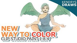 A new way to color- Clip studio paint update 1.8.4 - colorize and remove tone