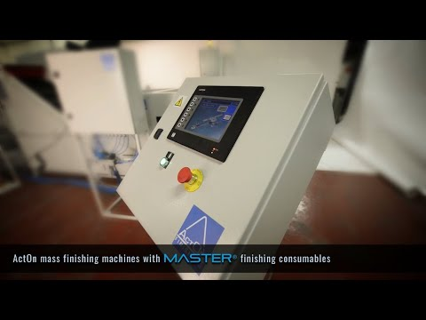 Mass Finishing with ActOn machines and Master finishing consumables