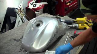 Suzuki fuel tank dent repair in real time