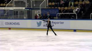 ISU 2014 Jr Grand Prix Courchevel Ladies Free Skate Evgenia MEDVEDEVA RUS