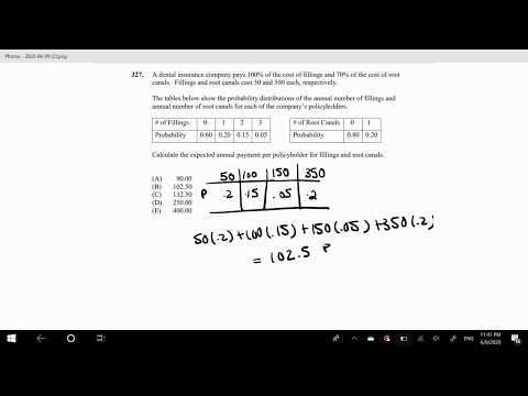 SOA Exam P Question 327 | Expectation - YouTube