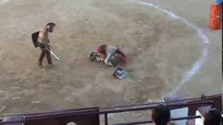 preview picture of video '2 Entrenamiento lucha gladiadores Lakuerter 2013 Andorra (Teruel)'