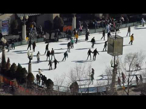 A winter scene from The Heritage: Ice skating at Millennium Park
