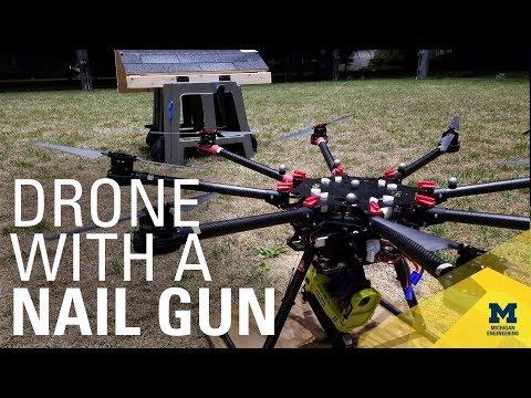 Take cover, it's a drone with a nail gun!