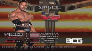 WWE Smackdown Vs Raw Character Select Screen Including All Unlockables Roster