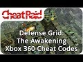Defense Grid: The Awakening Cheat Codes Xbox 360