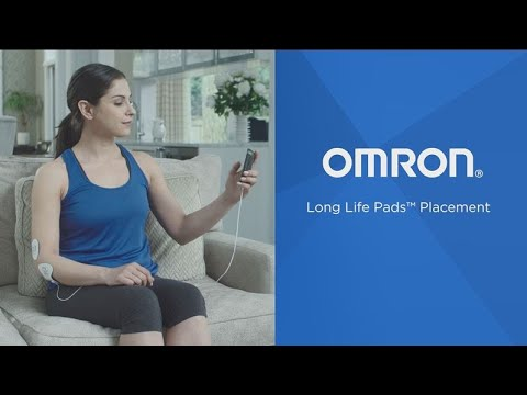 Omron Long Life TENS Pad Placement
