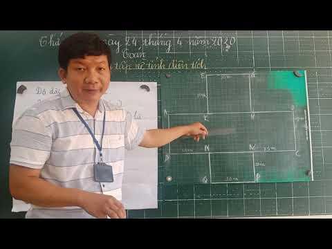 Môn Toán Lớp 5, bài Luyện tập về tính diện tích (GV Nguyễn Thanh Lam, Trường TH C Phú Mỹ)