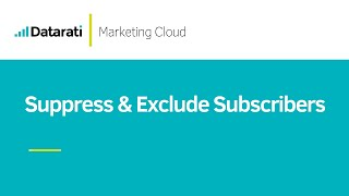 How to Suppress and Exclude Subscribers from Sends in Salesforce Marketing Cloud