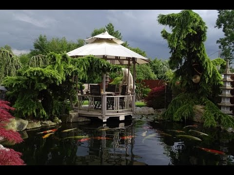 Japanischer Traumgarten - Koi und Skulpturen