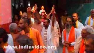 Krishna devotees at Hrishikesh in Uttarakhand