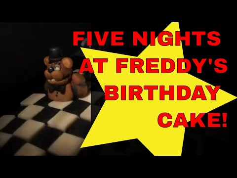 Ashlan's 9th Birthday...  Finding His Five Nights at Freddy's Cake