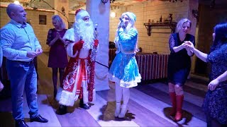 Дед Мороз зажигает. Танцевальный батл на корпоративе