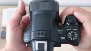 SONY DSC HX400V UNBOXING and short review