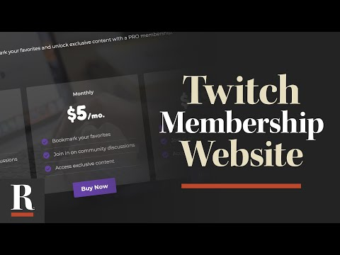 How to Create a Paid Membership Site with Your Twitch Vods