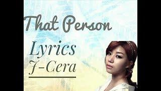 Lagu That Person Ost Love Returns Jcera
