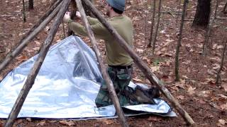 FlatHead's Frame, An Awesome Bushcraft Shelter Frame