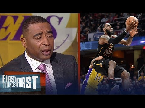Nick and Cris react to LeBron's triple-double vs Lonzo and the Lakers   FIRST THINGS FIRST