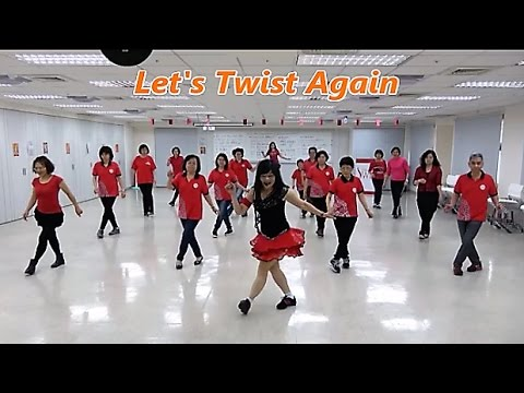 Let's Twist Again (by Karen Tripp) - Line Dance (Beginner) = 扭吧!扭吧! - 排舞 Mp3