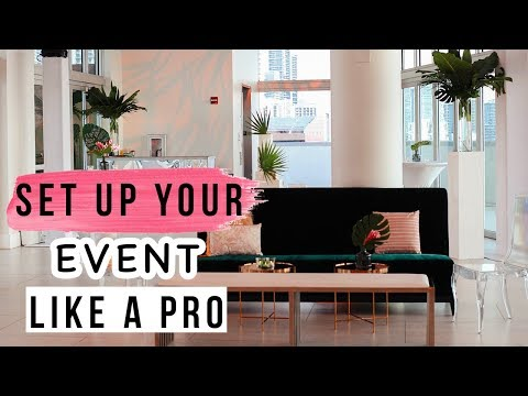 Set up Your Event Like a Professional Party Planner