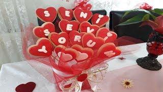 Şeker Hamurlu Kalpli Seni Seviyorum Kurabiye Tarifi - 14 Şubat Sevgililer Gününe Özel Tarif