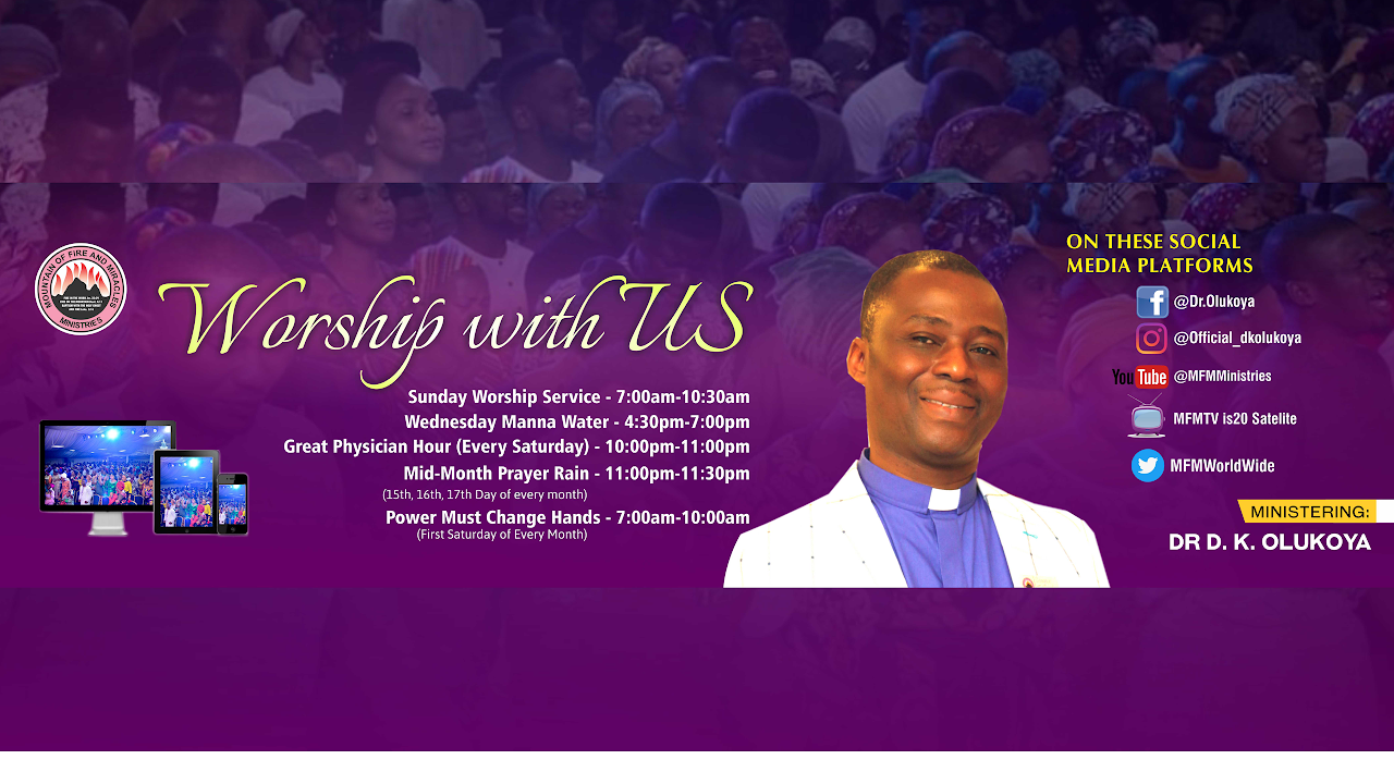 MFM Sunday Service 25th October 2020 by Dr D.K Olukoya - LIVESTREAM