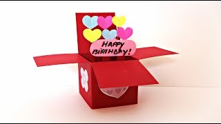 Explosion Box Pop Up Card | Handmade Birthday Gifts | Birthday Card DIY | Maison Zizou