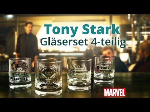 Marvel: Das Gläserset Tony Stark aka Iron Man (psst, geheim!)