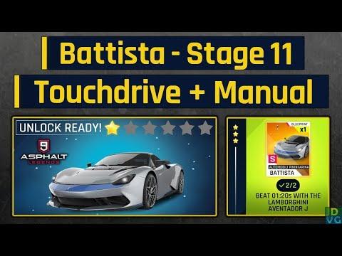 Asphalt 9   Pininfarina Battista Special Event   Stage 11 - Touchdrive + Manual ( Battista Unlock )