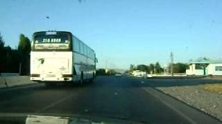 preview picture of video '2. Samarkand to Tashkent Highway Road 2009'