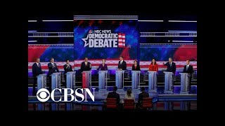 Democratic presidential candidates fight for breakout moments in debate