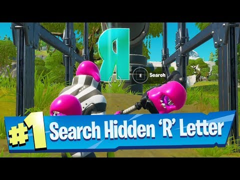 Search hidden 'R' found in the Forged In Slurp Loading Screen - Fortnite Battle Royale