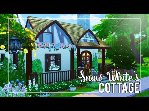 The Sims 4 Speed Build Snow White S Cottage Sims 4 Disney