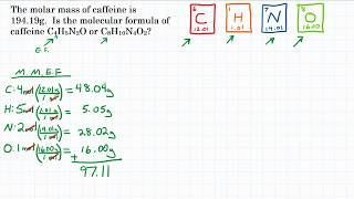 Calculate Molecular Formula From Empirical - Practice - 1