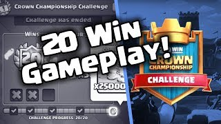 20 Win Crown Championship Challenge Deck! | Best Hog Deck | Clash Royale