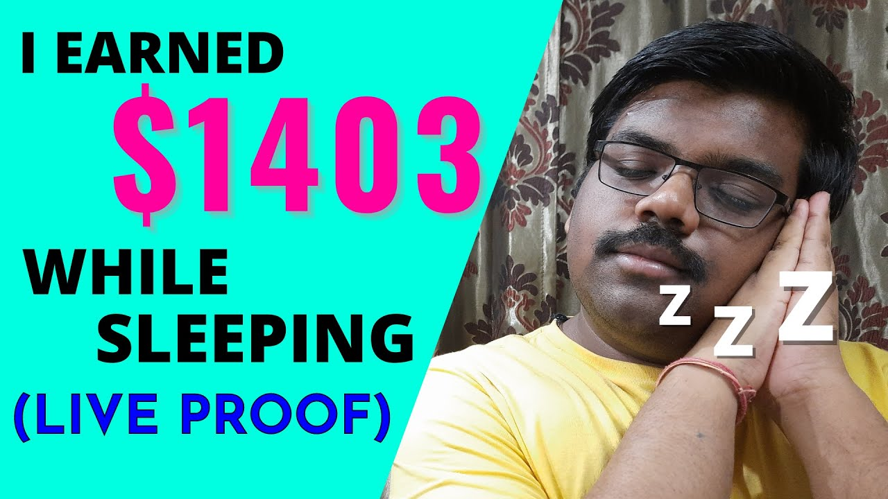 I Earned $1403 While Sleeping (1 HOUR WORK)   Passive Income   Make Money Online thumbnail