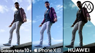 Samsung Note10+ vs Apple iPhone XS Max vs Huawei P30 Pro Camera Test Comparison