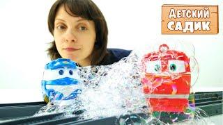 Роботы поезда - Видео с игрушками - Капуки кануки