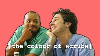 Why are scrubs blue or green?