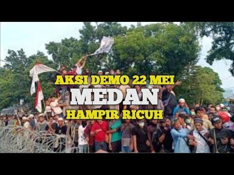 SITUASI TERKINI DI KOTA MEDAN !!!! MASSA PENDEMO HAMPIR RICUH