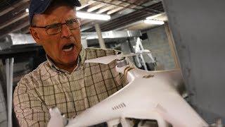 PSYCHO DAD DESTROYS DRONE!