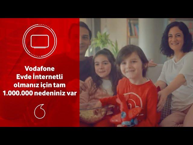Türkiye'de tam 1 milyon ev, Vodafone Evde İnternetli!